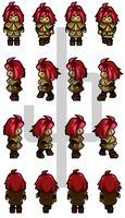 Walk cycle Sprite sheet by ZannyHyper