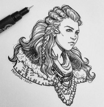 Inktober day 2 by AllieJacques
