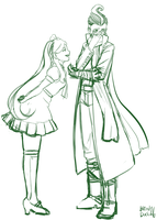 Sonia Nevermind and Gundham Tanaka (W.I.P.) by Blind-Duck