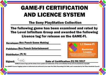 PlayStation Collection Game-Fi Certificate by LevelInfinitum