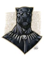 Black Panther by AdamWithers