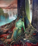 Dryad in mourning by Ikechi1