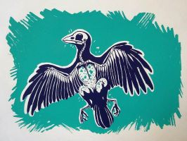 Dead Bird Screenprint by Maquenda