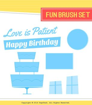 Fun Brush Set by OopsYeah