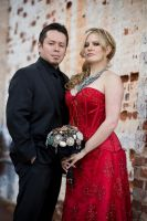 The Bride and Groom:  Jacquelyn and SK by sleeperkid