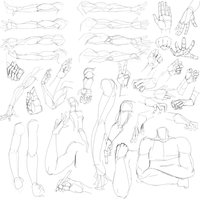 Arm rotation study + arms and hands by CoffeeSlice
