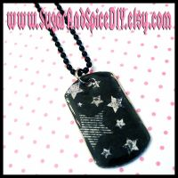 Anti Stars and Stripes Dog Tag by wickedland