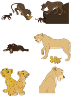 lion bases 4 by whitetigerdelight