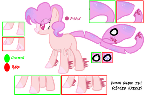 Poison Snake Tail Specie :Closed Specie: (Read D.) by ToxicPone