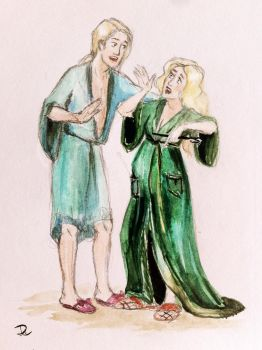 Narcissa and Lucius genderswitch/genderbend by Donna-Liateros