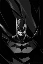 Batman BW by YamaOrce