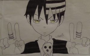 Death the kid drawing by Haddis