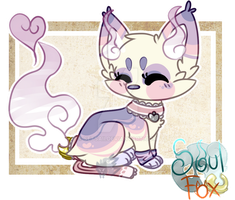 (Closed) Pastel SoulFox Adoptable Auction! by SetSaiI