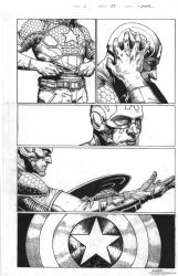 My inks over Jerome Opena's pencils by M-Harper