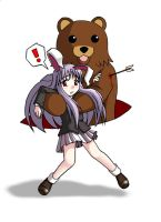 Udonge with Friendly Bear by mugenjohncel