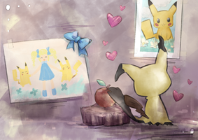 Mimikyu's Room by destizeph