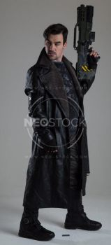 Danny Cyberpunk Detective 150 - Stock Photography by NeoStockz