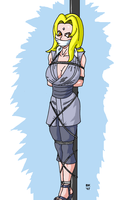Tsunade pole tied by GrouchoM