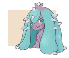 daily pokemon #023 (mareanie) by pommot