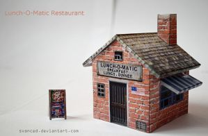 Lunch-O-Matic Restaurant Papercraft +DOWNLOAD by svanced