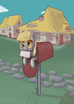 Derpy in a mailbox by re7natus