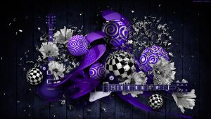 Musical Performance in Purple by StarwaltDesign