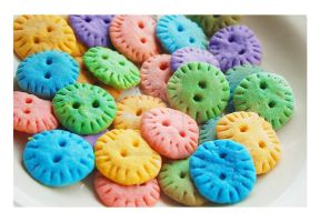 Coraline's Button Cookies by ScarletWarmth