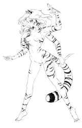 Tigress, life size drawing by tigr3ss