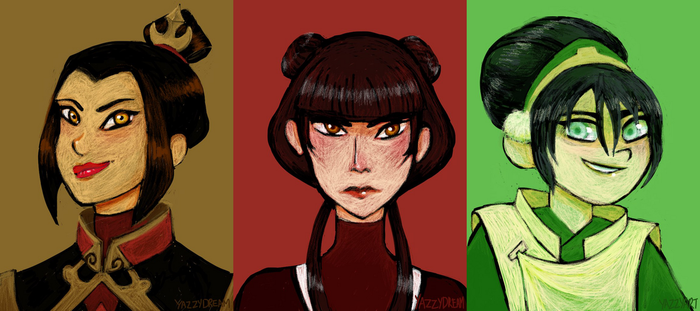 Favorite ATLA Characters by YazzyDream