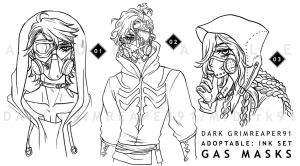 [CLOSED] Adoptables : INK set GAS MASKS by MrDark91
