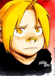 Colored- Edward Elric -crianca by lekabr