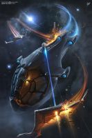 Privateer Tales 3 Book cover by Sviatoslav-SciFi