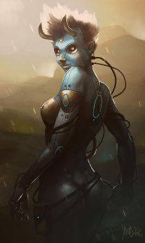 Cyber babe by Traaw