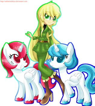 London and her Unicorn Friends (MLP Style) by UnlimitedSkye