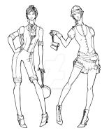 Steampunk Summer Safari _lines by Mouse-vs-World