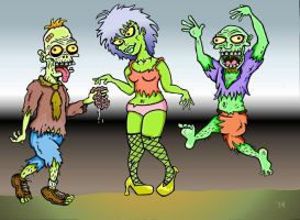 3 Zombies by TallToonist