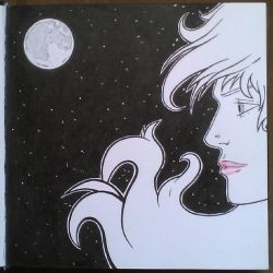 Sketchbook - Girl and the Moon by JaimeDL