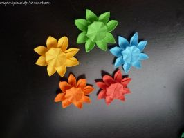 Origami Sunflowers by OrigamiPieces