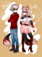 new fcs .:Joseph and Lady the siberian cat:. by NanaMariana22