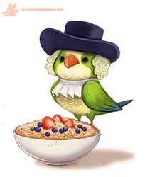 Daily Paint #1179. Quaker Oats Parrot by Cryptid-Creations