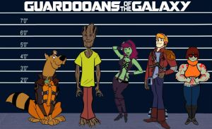 Guardians of the Galaxy and Scooby Doo by Brandtk