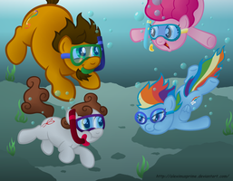 Commission:  Fun Underwater by AleximusPrime