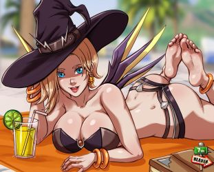 Patreon - 08/18 - Summer Witch by 7th--Heaven