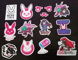 D.va Stickers! by LZCCreations