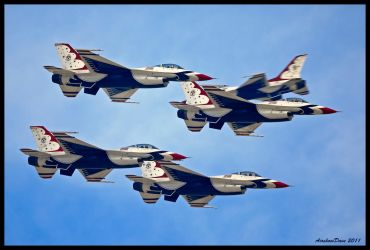 Thunderbirds 2011 II by AirshowDave