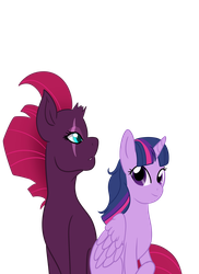 Twilight Spakle and Tempest by WolfBoyOnFullMoon
