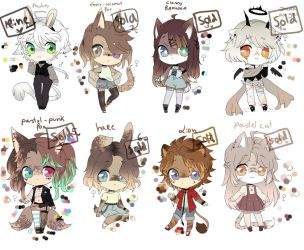ADOPTS: ( SOLD ) ---  0/8 by Akiotamii