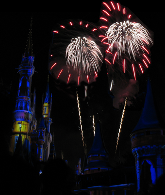 Castle Fireworks Show IMG 1106 and 1107 by TheStockWarehouse