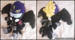 Commission: Large-sized Beelzemon Plush by Sarasaland-Dragon