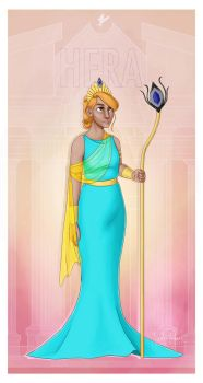 Greek Goddesses - Hera PRINT by JadeAriel